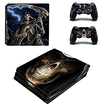 Adventure Games - PS4 PRO - Skull Reaper - Playstation 4 Vinyl Console Skin Decal Sticker + 2 Controller Skins Set