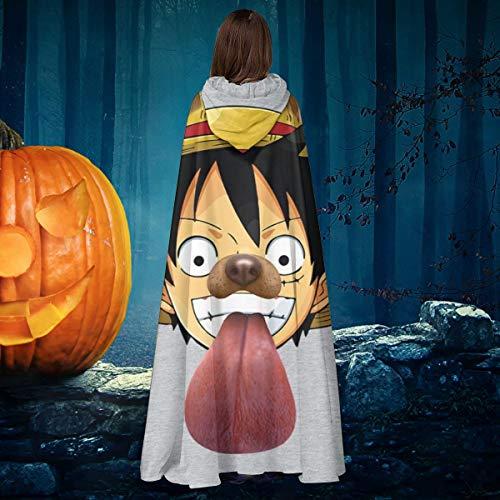 AISFGBJ Disfraz de mono D Luffy para perro Snapchat de una pieza, unisex, para Navidad, Halloween, caballero bruja con capucha, bata de vampiros