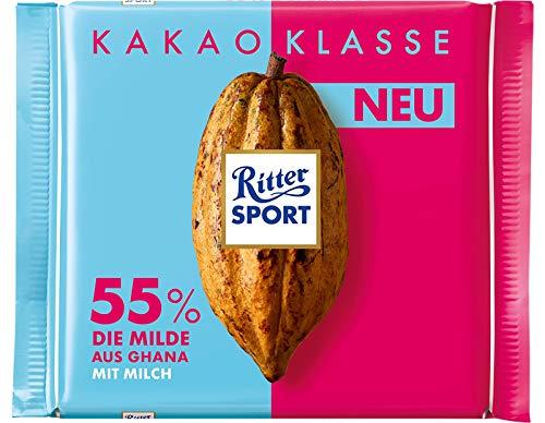 Ritter Sport 55% Smooth Chocolate Bar Candy Original German Chocolate 100g/3.52oz
