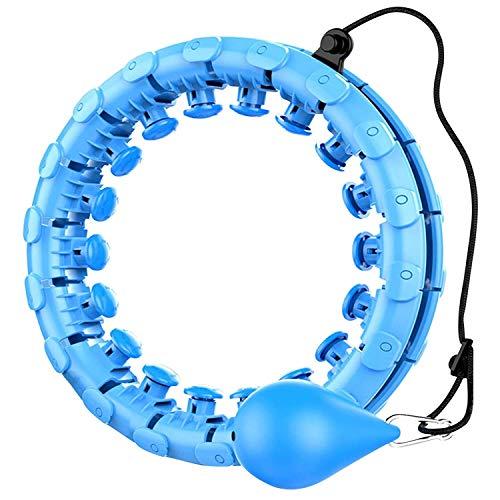 Smart Hula Hoop para adultos y niños haciendo ejercicio 24 nudos desmontables peso ajustable bola de giro automático