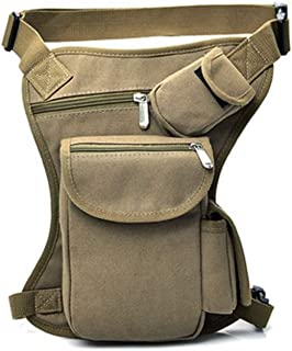 Multifunction Outdoor Sport Leisure Waist Pack, Men's and Women's Large Capacity Lightweight Waist Bag Leg Bag Can Place Mobile Phones, Wallets, Watches, Various Cards, Etc. (Color : Khaki)