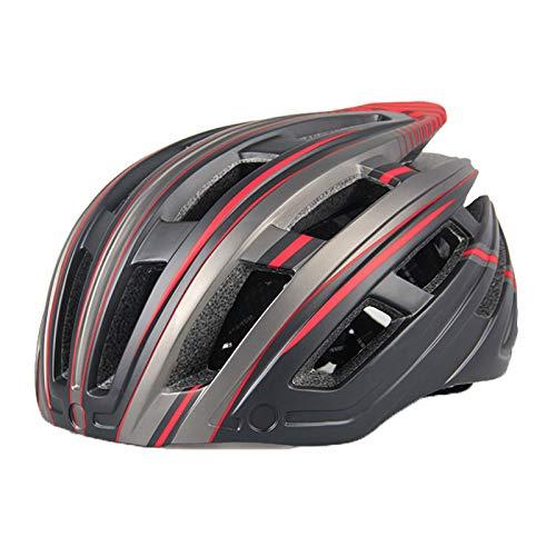 XYW Casco Adulto Casco de Ciclismo - con Gafas Ligeras Montaña integrada Bicicleta de Carretera Ciclismo Casco Sombrero Hombres Y Mujeres Seguridad Equipo de Casco Ultra Luz Ligero (Color : B02)