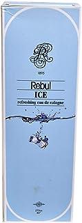 Rebul Eau De Cologne Ice 270 ml, szklana butelka – balsam do splash – Kolonya dezynfekuje 80% alkoholu