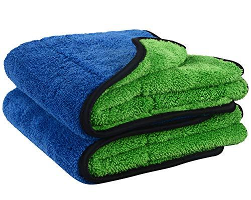 VIVOTE Panni di pulizia in microfibra ultra spessi per auto, lavaggio e ceretta, super assorbenti