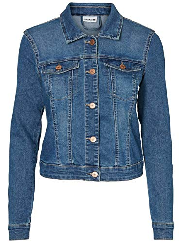 Noisy may Damen Nmdebra Ls Denim Jacket Noos Jeansjacke, Medium Blue Denim, M EU