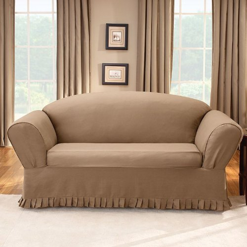 Pleasing Check Price Sure Fit Colette Pleated Sofa Slipcover Ncnpc Chair Design For Home Ncnpcorg