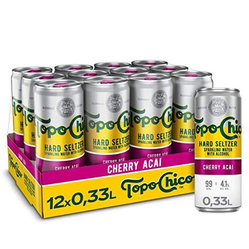 Topo Chico Hard Seltzer Cerry Acai EINWEG Dose (12 x 330 ml)