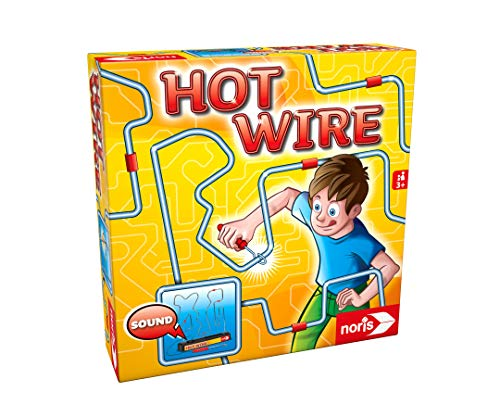 Noris 606060172  Hot Wire, das bekannte Geschicklichkeitsspiel für die ganze Familie (Batterien nicht im Spiel enthalten), ab 3 Jahren