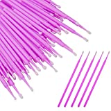 500pcs Bendable Micro Applicator Brushes for Eyelash Extensions Disposable Micro Brush Swabs Wands Micro Tip Applicators Mascara Brush, Pink