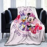 SEKIRO Daisy Duck Minnie Mouse Blanket Flannel Microfiber Throw Blankets Super Soft Fuzzy Luxury Suitable for Bed Sofa Travel Four Seasons Blanket-80 x 60 inch