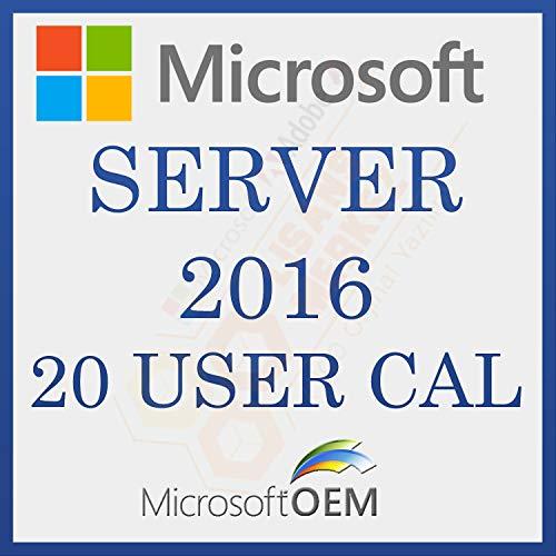 MS Server 2016 User 20 CAL Licence de Vente au Détail | Avec Facture| Licence Toute une Vie, Informations Sur Licence et Activation Numéro d'Amazon Vous Serez Envoyé par Message – Entre 0-10 heures
