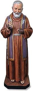 Avalon Gallery Patron Saint Padre Pio of Pietrelcina Church Size Resin Statue, 49 Inch