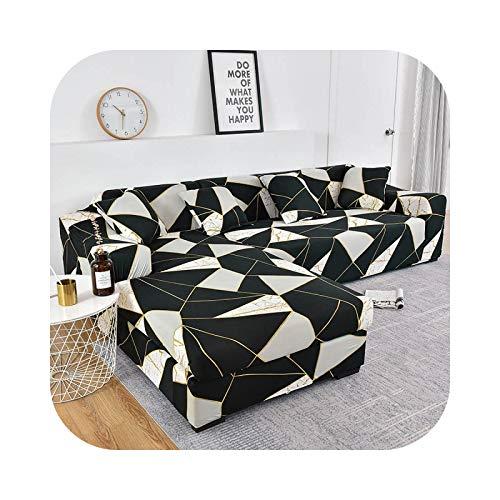 Copridivano geometrico elastico per soggiorno, divano, per divano, poltrona, sdraio, divano, 1 pezzo, colore: 8-3 seater 190-230 cm