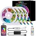 HRDJ Led Strip Lights 66 Feet, Music Sync Color Changing Led Light Strip 5050 SMD Flexible Rope Lights with Remote App Control Led Lights for Bedroom