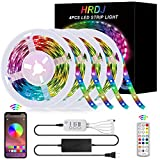 HRDJ Led Strip Lights 66 Feet, Music Sync Color Changing Led Light Strip 5050...