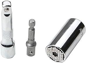 YUEMING Universal Llave de Vaso,7-19mm Multifunción Herramientas de Mano Kit de Reparación con Taladro Adaptador Llave de Carraca Pequeño de Mano Juego de Reparación