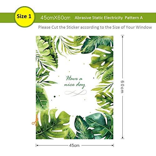 LBBWF Muurstickers waterdichte raamfolie groene schildpad bamboe huis mat ondoorzichtig schurende statische balkon badkamer stickers glas Sticker