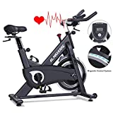 MaxKare Magnetic Exercise Bikes Stationary Belt Drive Indoor Cycling Bike with High Weight Capacity...