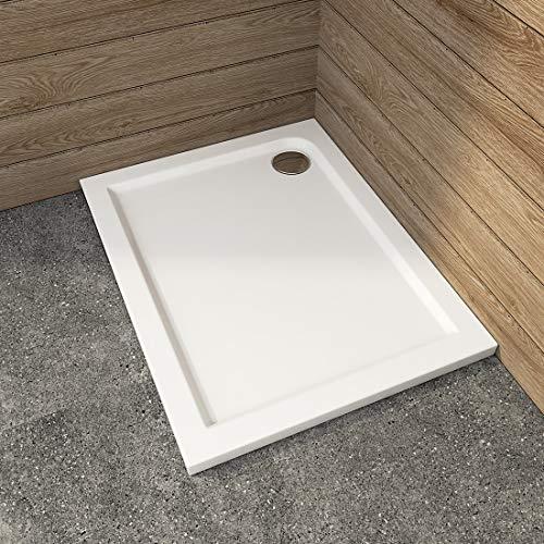 WELMAX Duschwanne 90x70 cm Weiß Duschtasse Rechteckig Duschwannen Badezimmer Duschbecken Quadratisch