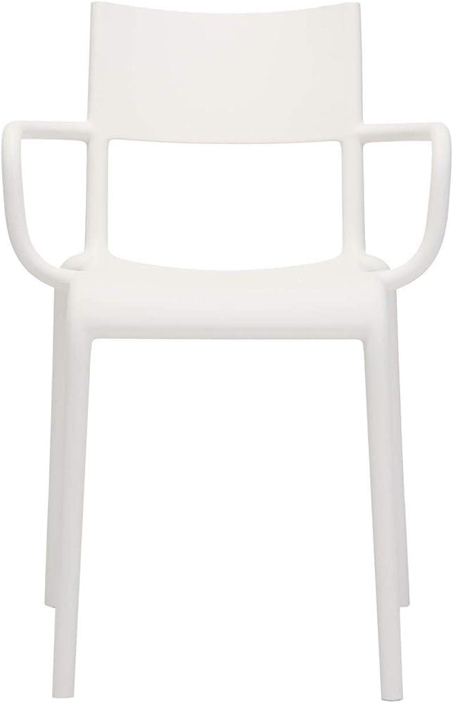 Kartell generic,sedie in  polipropilene modificato colorato in massa,2 pezzi 0581403