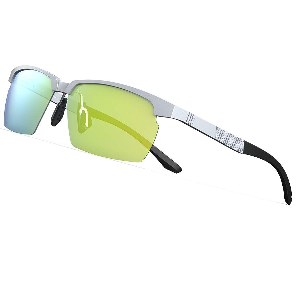 和らげるニコチン消毒するPAERDE サングラス メンズ 偏光レンズ 運転 軽量 UVカット 紫外線カット 釣り スポーツ テニス