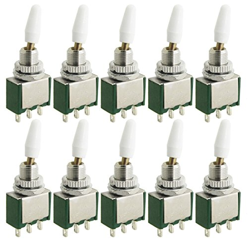 10PCS AC 250V 2A ON/ON 2Position SPDT Interruptor de palanca de