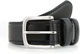 Dents Men's Leather Belt with Contrast Colour Stitching