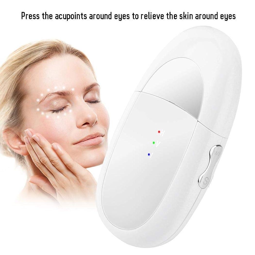不信軍比率アイマッサージャー、2 in 1 Eye&Lipマッサージャーイオンインポートバイブレーションマッサージャーは、ダークサークルとむくみを緩和しますEyes&Lips Care Device