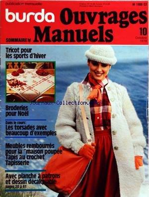 BURDA [No 10] du 01/10/1978 - OUVRAGES MANUELS TRICOT POUR LES SPORTS D