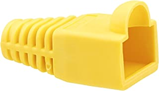 C2G 04756 RJ45 Snagless Boot Cover for Cat5, Cat5e, Cat6 or Cat6a Cable, Multipack (50 Pack) TAA Compliant, Yellow (6.0mm OD)