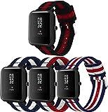 Correas para Relojes Nylon Compatible con Huawei Watch GT/GT 2e / GT 2 (46mm), Correa de Reloj de NATO para Mujer y Hombre con Hebilla de Acero Inoxidable (22mm, 4PCS E)