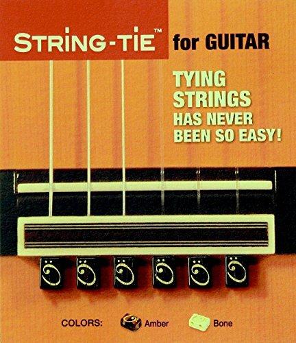 TSTGB TENOR String-Tie Tailpiece BridgeBeads Set for Classical or Flamenco Spanish Guitar, BLACK EBONY Color Bridge Beads.