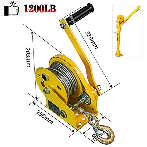 RSHJD 1200lb Cabrestante Manual, Cabrestante Manual con Freno y Cable para Barco,...