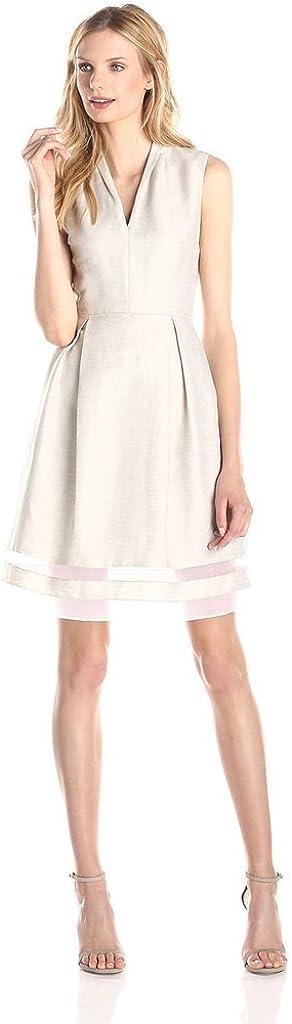 Pure Cherry Women's Mesh Perspective Waist Big Swing Dress Medium White