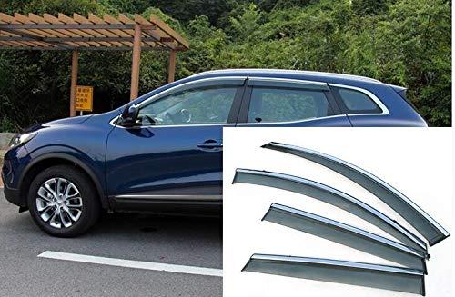 NO LOGO ZWQ-Schirm for Renault Kadjar Fenster Visier Sonne Regen Ablenkschutzelements Markisen Car-Styling Schutz Zubehör 2016 2017 2018