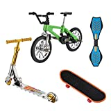 Hotusi Mini Finger Sports Skateboards/Bikes/Swing Boards/ Scooter Set for Party Favors Educational Finger Toy(4 Pcs)