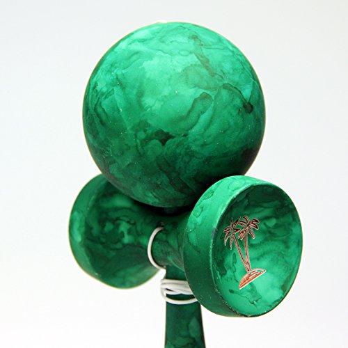 Bahama Kendama Tide kendama - Vibrant colored and Rubber paint - Green