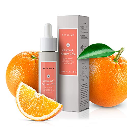 Vitamin C Serum 22% - 1 oz, Fade Dark Spots and Acne Scars, Anti-Aging, Anti-Wrinkle Facial Serum with 22% Vitamin C Complex Plus Hyaluronic Acid & Vitamin E