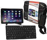 Navitech Bon Plan Compatible avec Tablettes Tactiles 2015 : Sacoche Noire + Support + Clavier Bluetooth AZERTY