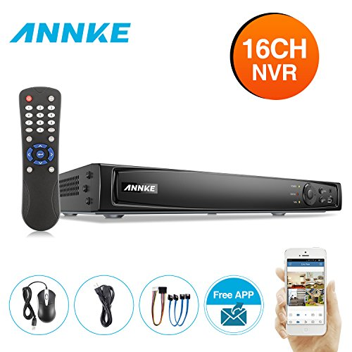 ANNKE 16CH 6MP Surveillance Camera POE NVR Video Recorder,Widely Used in Home Security System,Suit for ANNKE Surveillance POE Cameras(NO Hard Drive)