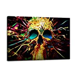 Waterproof Print Wall Decoration Artwork for Bedroom Office Room Abstract Skull Canvas Wall Art Home Décor Picture Stretched and Framed Ready to Hang(24x36inchx1Panels)