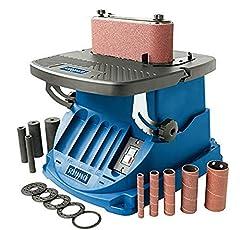 Scheppach oscillerende spindelmolen OSM600 (spindelslijpermachine met 450 watt, kantelbaar tot 45°, aluminium tafel, oscillatieslag 16 mm) incl. 5 slijpkouwjes & 4 rubberen slijprollen*