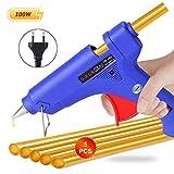 Randalfy 100Watt Heißklebepistole mit 5 Heißklebesticks Klebesticks für Ausbeulwerkzeug Dellen Reparaturset DIY Kleine Handwerk und schnelle Reparaturen in Haus & Büro