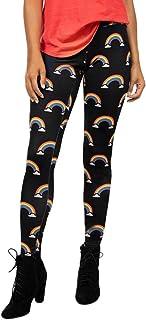 Qootent Yoga Pants Pencil Leggings Fitness Sport Fashion Rainbow Print Trouser