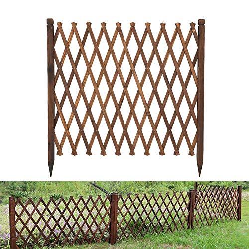 Zaun, Holz Expansion Zaun Gate Gitterplatten Dekoration, Trellis für Kletterpflanzen Outdoor Gartenkantengrenze (Color : B133CM)