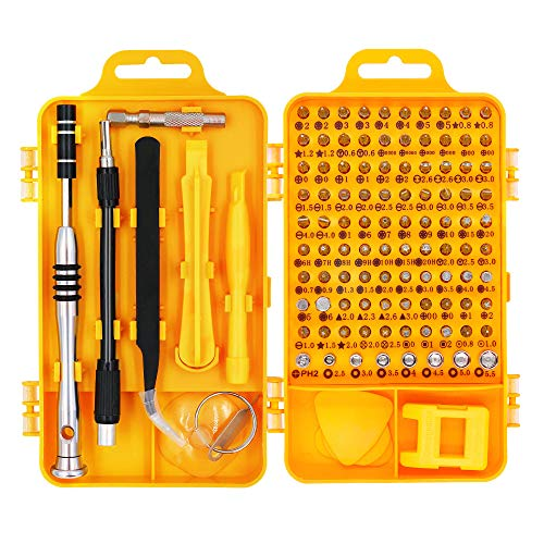 110 in 1 Präzisions Schraubendreher Set, magnetisches Treiber-Kit, professionelles Reparatur-Tool-Kit für iPhone X, 8, 7 und darunter, Telefon, Computer, Tablet, Xbox,elektronische Geräte