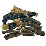 Accesorios de chimenea etanol y gel de encendido cerámica maciza decorativa maderas troncos (10unidades)