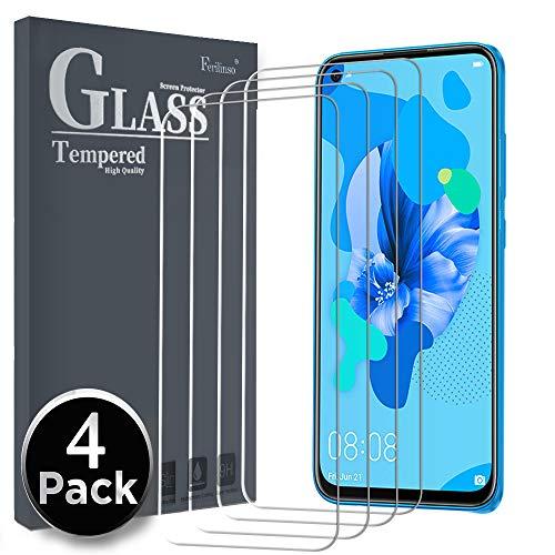 Ferilinso gepantserd glas beschermfolie compatibel met Huawei P20 Lite 2019, [4-pack] gehard glas screen protector gepantserd glas gehard glas met levenslange garantie voor Huawei P20 Lite 2019 kogelvrij glas