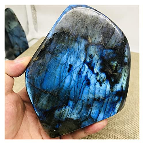 MUYANDZ Cristal 400-1000 g Crystal Moonstone Natural Piedra de Luna cruda Ornamento de Piedra Preciosa Pulida Cuarzo Labradorite Artesanía Decoración de Piedra Curación de Piedra (Größe : 300-400g)
