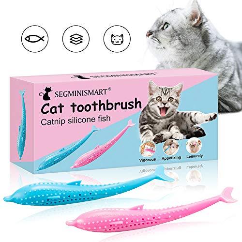 Catnip Katzenspielzeug,Katzenminze Spielzeug,Katzen Zahnbürste,Cat Toothbrush,Fisch Katzenspielzeug, KatzenSpielzeug,Katze Fischform Zahnbürste,Zahnbürste für Katzen,Kauen Zahnreinigung Spielzeug